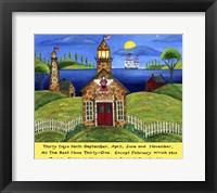Framed School Lighthouse Lang