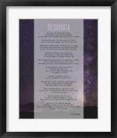 Framed Desiderata Night Sky