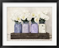 Framed Tulips in Mason Jars