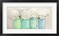 Framed Peonies in Mason Jars (detail)