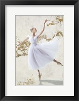 Framed White Ballerina