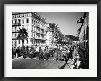Framed Depart du Grand Prix automobile de Nice 1934