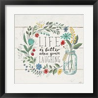 Framed Blooming Thoughts I