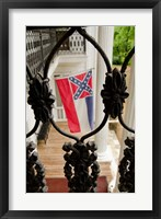 Framed Mississippi Mississippi state flag at the Waverley Plantation