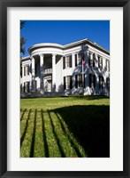 Framed Governor's Mansion in Jackson, Mississippi