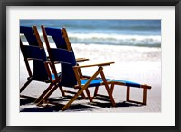 Framed Beach Chairs, Umbrella, Ship Island, Mississippi