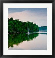 Framed Sailboat Sailing Down the Tombigbee River in Mississippi