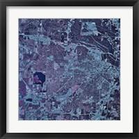 Framed Satellite view of Jackson, Mississippi
