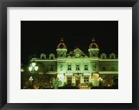 Framed Monte Carlo Casino at Night, Monaco