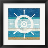 Framed Beachscape VI Helm White