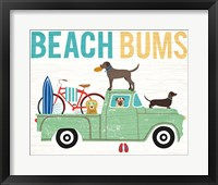 Framed Beach Bums Truck I