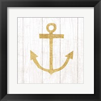 Framed Beachscape III Anchor Gold Neutral