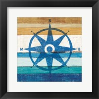 Framed Beachscape IV Compass