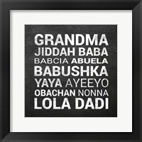 Framed Grandma Various languages - Chalkboard