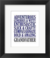 Framed Adjectives for Grandpa