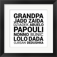 Framed Grandpa Various Languages