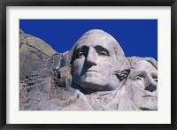 Framed Presidents Washington and Jefferson, Mount Rushmore, South Dakota