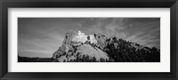 Framed Mt Rushmore National Monument and Black Hills