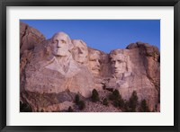 Framed Mount Rushmore National Memorial at dawn, Keystone, South Dakota