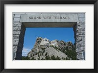 Framed Mount Rushmore, South Dakota