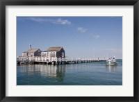 Framed Straight Wharf water taxi, Nantucket, Massachusetts