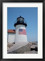Framed Nantucket Brant Point lighthouse