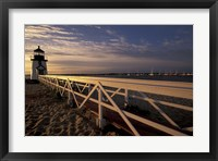 Framed Brant Point Light at Sunrise, Nantucket Island, Massachusetts