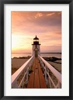 Framed Massachusetts Nantucket Island, Brand Point island