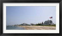 Framed Beach with buildings in the background, Jetties Beach, Nantucket, Massachusetts