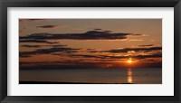Framed Sunset over the ocean, Jetties Beach, Nantucket, Massachusetts