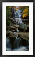Framed Waterfall in a forest, Arethusa Falls, Crawford Notch State Park, New Hampshire, New England