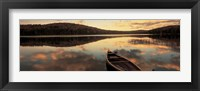 Framed Water And Boat, Maine, New Hampshire Border
