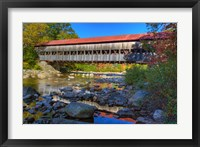 Framed Albany covered bridge over Swift River, White Mountain National Forest, New Hampshire