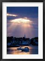 Framed North Church Rises Above Portsmouth, Piscataqua River, New Hampshire