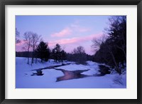 Framed Winter from Bridge on Lee-Hook Road, Wild and Scenic River, New Hampshire