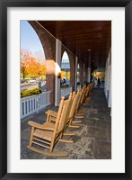 Framed Front Porch of the Hanover Inn, Dartmouth College Green, Hanover, New Hampshire
