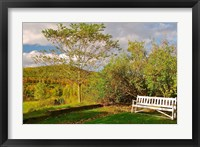 Framed New Hampshire, Sugar Hill, Bench