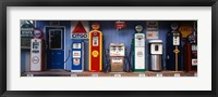 Framed Littleton Historic gas station, New Hampshire