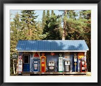 Framed Gas station, New Hampshire