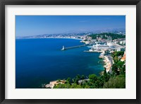 Framed Aerial View of the Port, Nice, France