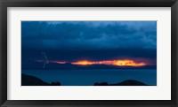 Framed Lightning over Isla Del Sol, Lake Titicaca, Bolivia