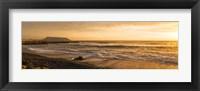 Framed Surf on beach at dusk, Playa Waikiki, Miraflores District, Lima, Peru