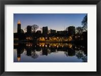 Framed Midtown Skylines and Lake, Atlanta