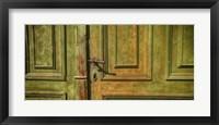 Framed Closed Door of a House,  Transylvania, Romania