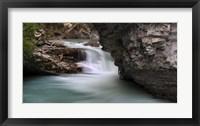 Framed Johnston Falls, Banff National Park, Alberta, Canada