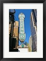 Framed Portland Landmark Sign, Portland, Oregon