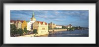 Framed Buildings at the Waterfront, Prague, Czech Republic