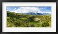 Framed Circular Inca Terraces of Moray, Machupicchu, Peru