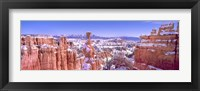 Framed Snow Over Bryce Canyon, Utah