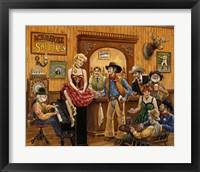 Framed Wild Wild West Saloon